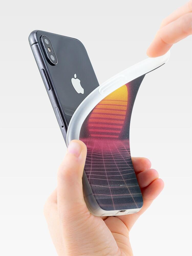 Vista alternativa de Funda y vinilo para iPhone Puesta de sol digital