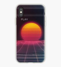 Digital sunset iPhone Case