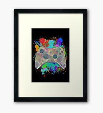 Painted Xbox 360 Controller Framed Print