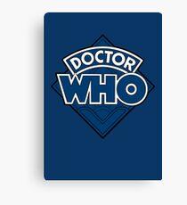 Doctor Who - Diamond Logo Flat Blue. Canvas Print