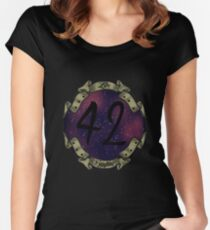 42 IS THE ANSWER ! Women's Fitted Scoop T-Shirt