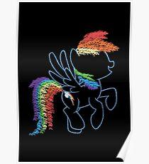 Sprayed Rainbow Dash Poster