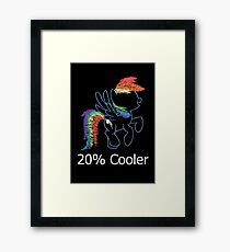 Sprayed Rainbow Dash (20% Cooler) Framed Print