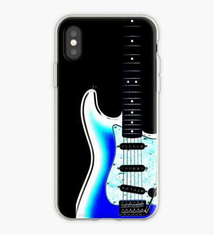 guitar blue iPhone Case