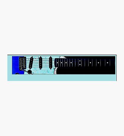 guitar blue Photographic Print