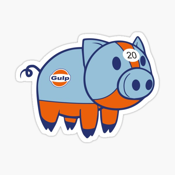 Gulp Pig Sticker