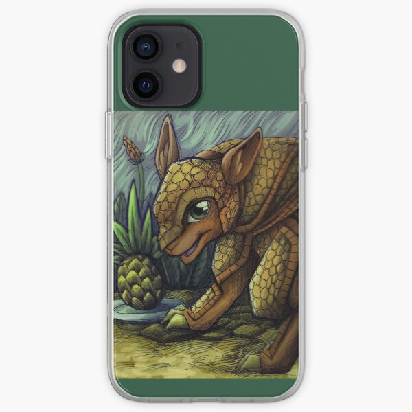 armadillo and ananas  iPhone Soft Case
