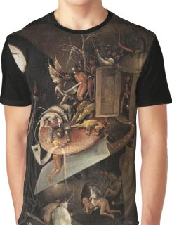 Monsters eating a Knight by Hieronymus Bosch Graphic T-Shirt