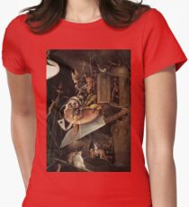 Monsters eating a Knight by Hieronymus Bosch Womens Fitted T-Shirt