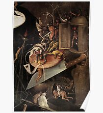 Monsters eating a Knight by Hieronymus Bosch Poster