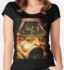 Hieronymus Bosch monster eating people Women's Fitted Scoop T-Shirt