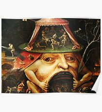 Hieronymus Bosch monster eating people Poster