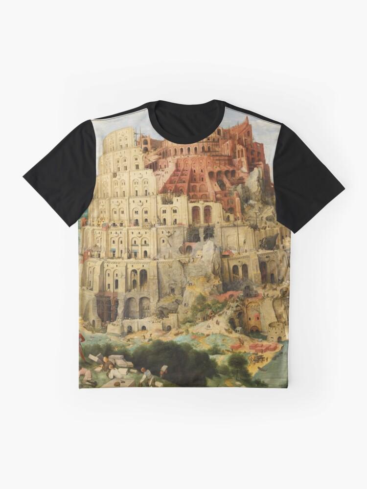 Alternate view of Pieter Bruegel Tower of Babel Graphic T-Shirt