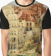 Pieter Bruegel Tower of Babel Graphic T-Shirt
