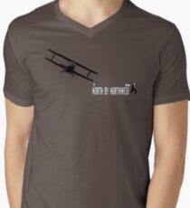 North by Northwest (black) Men's V-Neck T-Shirt