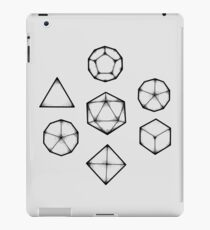 Dot Work Role Playing Dice - Black iPad Case/Skin