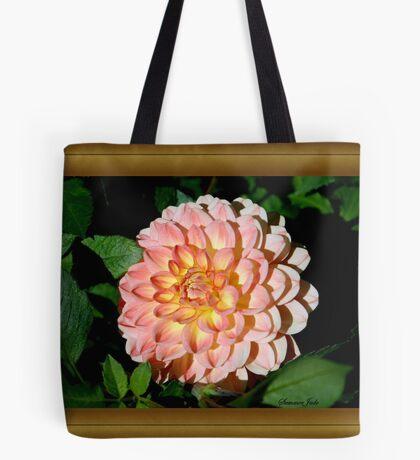 A Dahlia the Color of Peaches and Cream Tote Bag