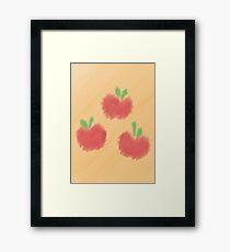 Watercolour Applejack Cutie Mark Framed Print
