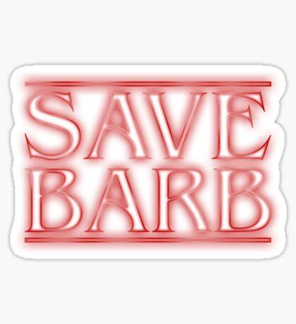 Save Barb Sticker