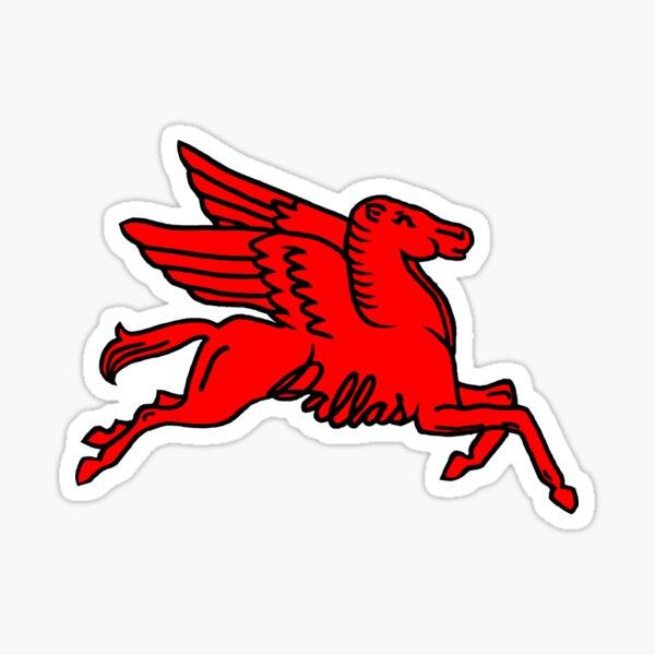 Red Pegasus Dallas Texas  Sticker