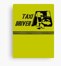 Taxi Driver (black) Canvas Print