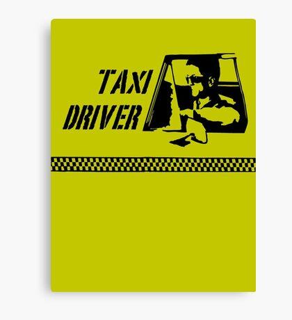 Taxi Driver (black) Canvas Print