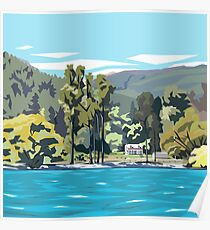 Wilson's Bay, Queenstown by Ira Mitchell-Kirk Poster
