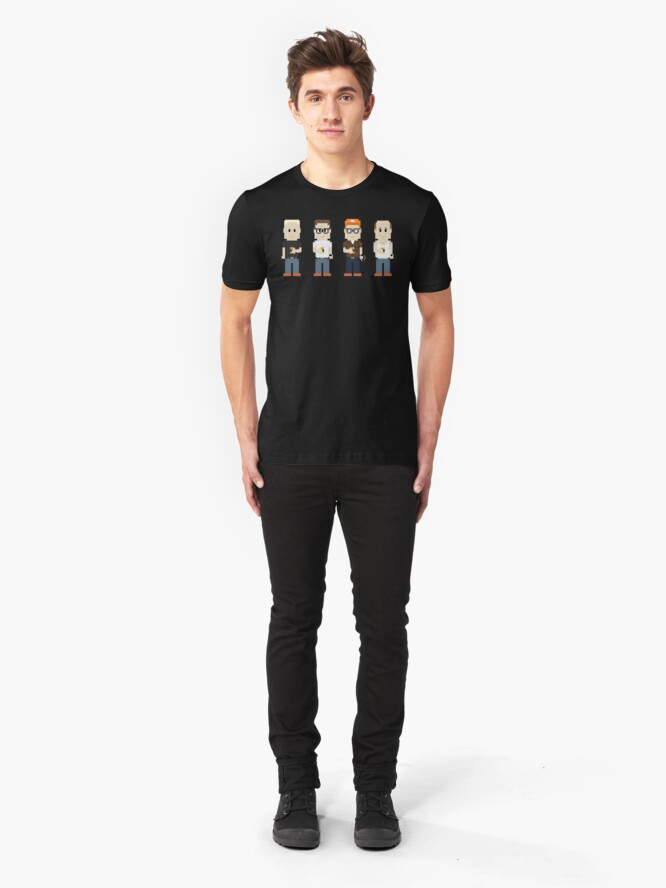 Alternate view of 8-Bit Propane and Propane Accessories Slim Fit T-Shirt
