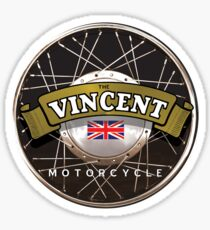 The Vincent Motorcycle England Sticker