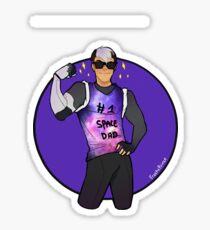 Space Dad Shiro Sticker