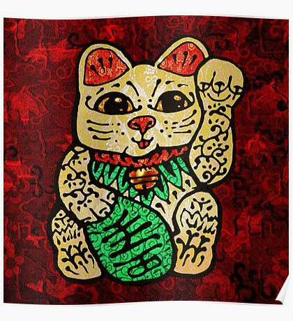 'Shiny Lucky Cat' Poster