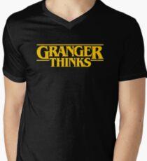 Granger Thinks! Mens V-Neck T-Shirt