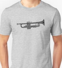 Happy jazz trumpet sketch T-Shirt