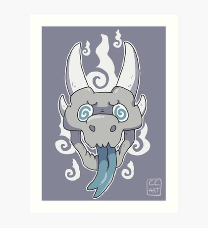 Dragon skull Art Print