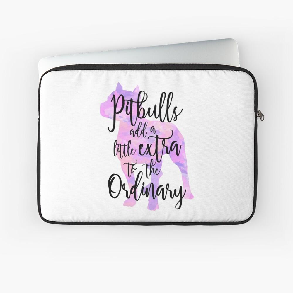 Extraordinary Pitbull Watercolor Laptop Sleeve