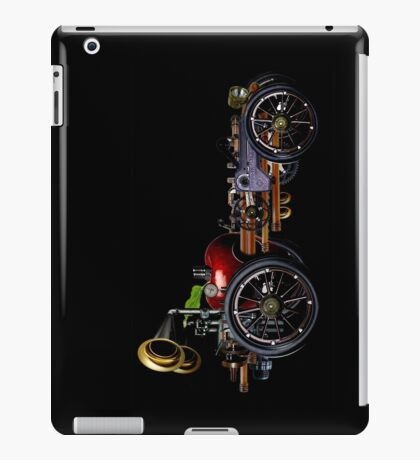 steam powered apple car iPad Case/Skin