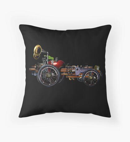 steam powered apple car Throw Pillow
