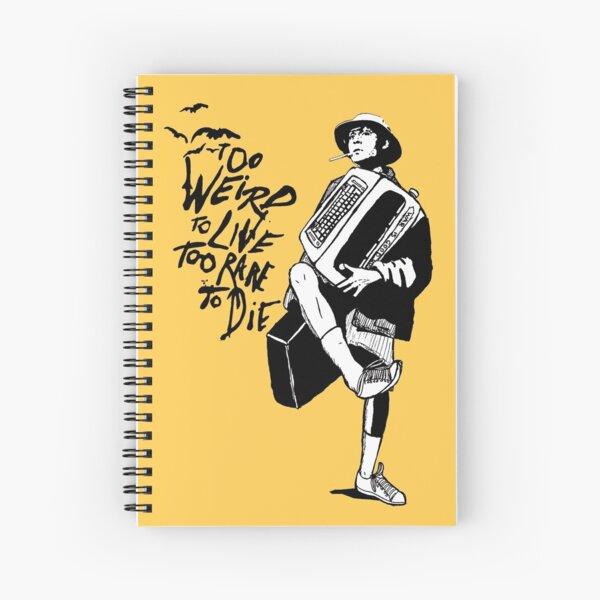 Weird and Rare - Fear Loathing Vegas Spiral Notebook
