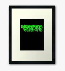 The Cramps (green) Framed Print
