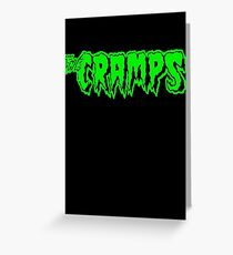 The Cramps (green) Greeting Card