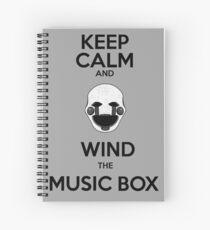 Keep calm puppet Spiral Notebook