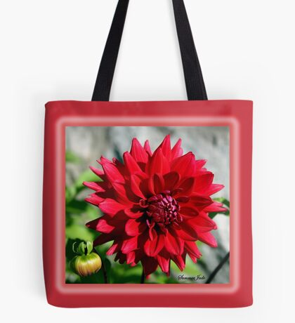 Autumn Dahlia ~ Shades of Red!  Tote Bag
