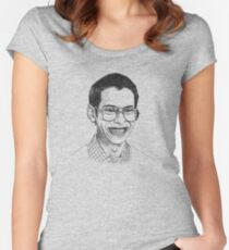 Camiseta entallada de cuello ancho Geeks and Freaks
