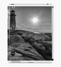 B&W of Iconic Lighthouse at Peggys Cove, Nova Scotia iPad Case/Skin
