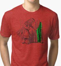 Follow the white rabbit Tri-blend T-Shirt