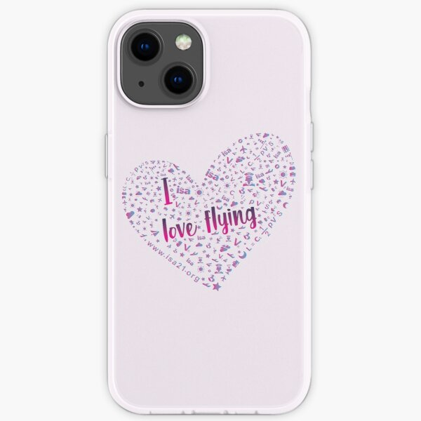 I Love Flying in a pink sky iPhone Soft Case