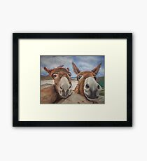 Donegal Donkey Duo Framed Print