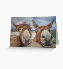 Donegal Donkey Duo Greeting Card