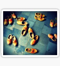 wooden slippers in Holland Sticker