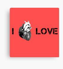 Love Cool Cute Street Art Heart Canvas Print